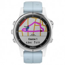 Смарт-годинник Garmin Fenix 5S Plus Glass,Wht w/Sea Foam Bnd (010-01987-23)