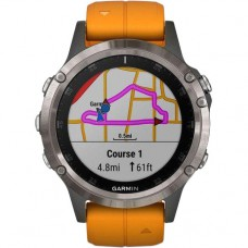 Смарт-годинник Garmin Fenix 5 Plus Sapphire Orange (010-01988-05/04)